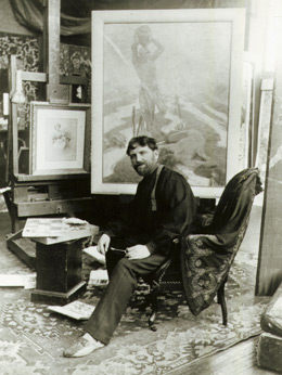 Alfons Mucha painting